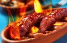 Portuguese Flame Grilled Sausage (Chouriço a Bombeiro) Recipe