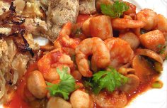 Portuguese Shrimp and Scallops Recipe