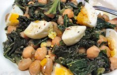 Portuguese Kale with Chick Peas and Egg Recipe