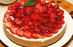 Portuguese Yogurt Flan with Strawberries Recipe