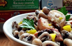 Portuguese Octopus Salad with Black Eyed Peas Recipe