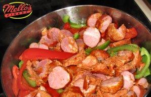 Portuguese Crock Pot Chouriço and Peppers Recipe