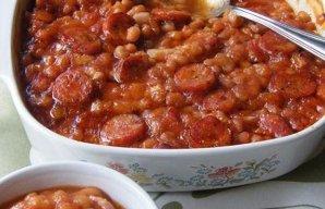 Portuguese Portuguese Style Sausage Baked Beans Recipe Recipe
