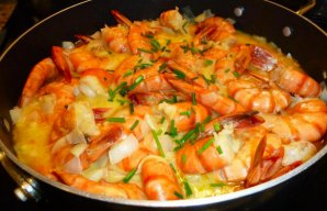 Portuguese Shrimp with Mustard Recipe