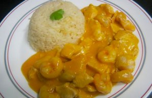 Portuguese Creamy Chicken with Shrimp Recipe