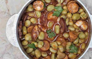 Portuguese Green Fava Beans Stew Recipe