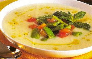 Portuguese Green Bean & Mint Soup Recipe