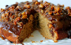 Portuguese Caramel and Walnut Cake Recipe