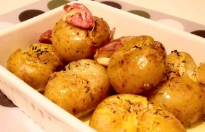Portuguese Roasted Garlic Potatoes Recipe