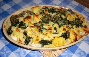 Portuguese Cod with Spinach Recipe