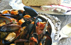 Portuguese Mussels Shrimp and Chouriço Recipe