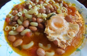 Portuguese Bean & Pasta Soup Recipe