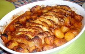 Portuguese Pork Loin with Pineapple Recipe