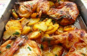 Portuguese Roasted Chicken with Potatoes Recipe