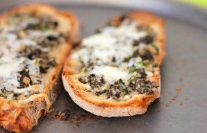 Portuguese Style Toast with Olives & Cheese Recipe