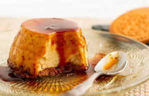 Portuguese Flan with Maria Biscuits Recipe