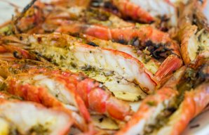 Portuguese Grilled Butter & Garlic Shrimp Recipe