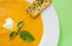 Portuguese Cream of Tomato with Roasted Vegetables Soup Recipe