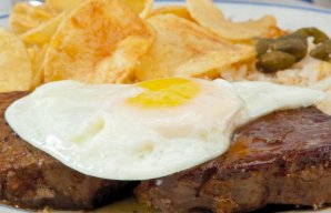 Portuguese Steak with an Egg on Horseback Recipe