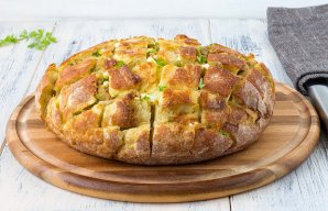 Portuguese Stuffed Bread with Garlic Butter Recipe