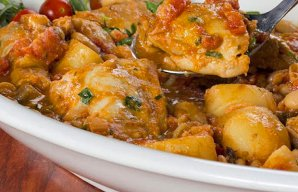 Portuguese Chicken with Beans Recipe