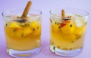 Portuguese White Wine Sangria with Peach & Passion Fruit Recipe