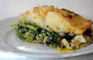 Portuguese Grilled Cod with Greens Recipe