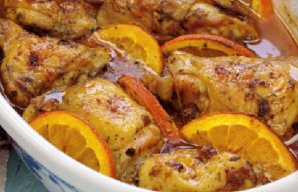 Portuguese Roasted Chicken with Orange Recipe