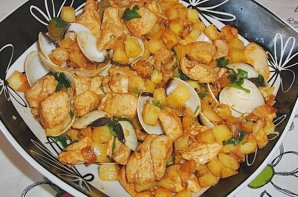 Portuguese Chicken with Clams Recipe