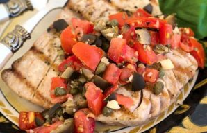 Liz's Portuguese Grilled Tuna with Capers Recipe