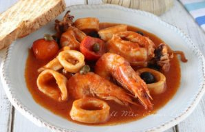 Portuguese Stewed Squid with Shrimp Recipe