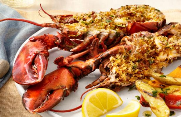 Portuguese Deviled Grilled Lobsters Recipe