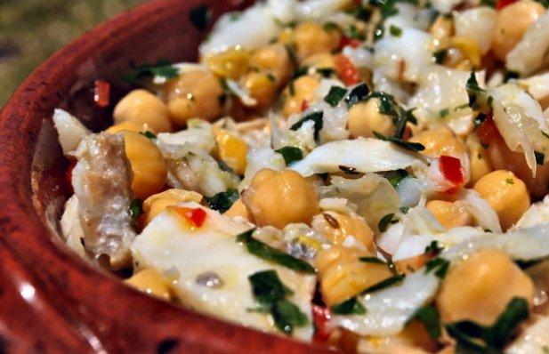 Portuguese Salted Cod Salad Recipe