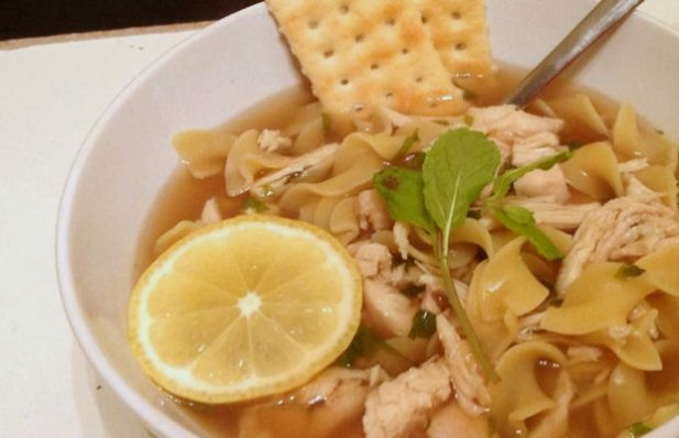 How to make Portuguese chicken soup (canja).