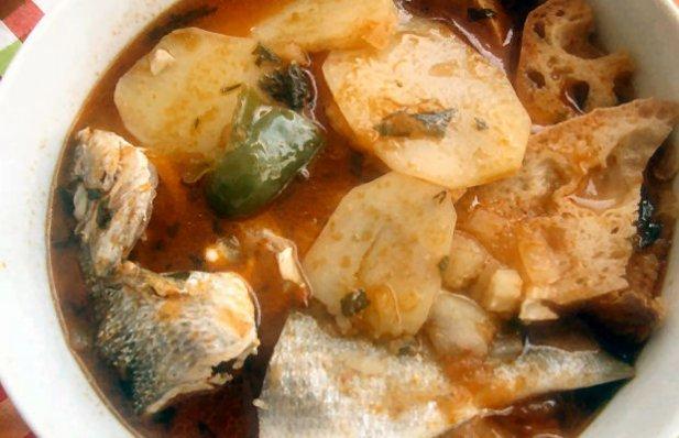 Portuguese Tomato Soup with Fish Recipe - Portuguese Recipes