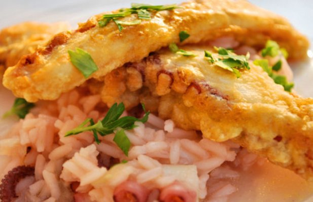 Portuguese Octopus Fillets with Rice Recipe