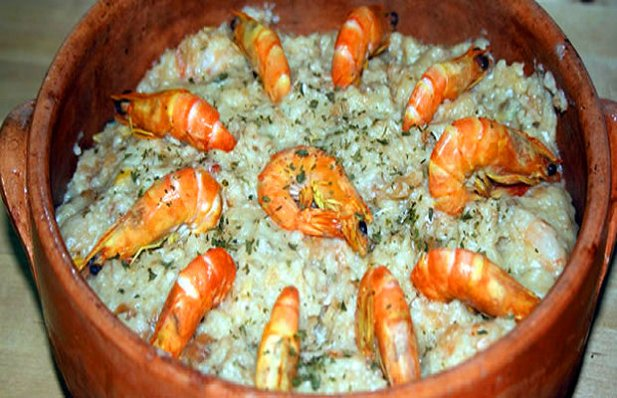 Portuguese Shrimp Bread Pudding Recipe - Portuguese Recipes