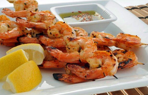 Portuguese BBQ Grilled Shrimp Recipe - Portuguese Recipes