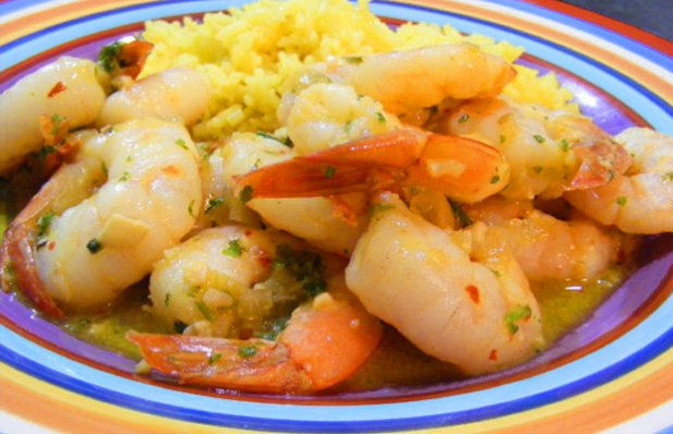 Easy to make and delicious spicy shrimp flavored with wine and garlic.