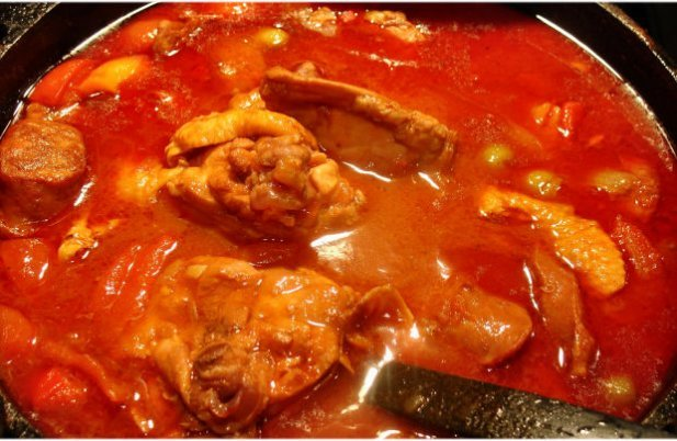 Portuguese Chicken with Linguiça Stew Recipe