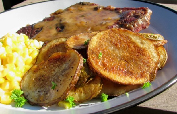 Portuguese Fried Potato Rounds Recipe