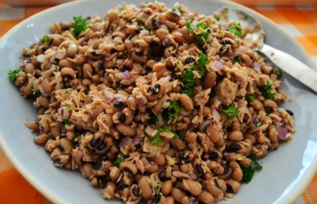 Portuguese Black Eyed Bean & Tuna Salad Recipe