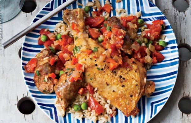 Portuguese Chicken and Rice with Chouriço Recipe - Portuguese Recipes