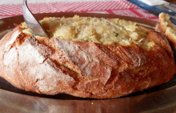 Portuguese Cornbread Filled with Cod Recipe