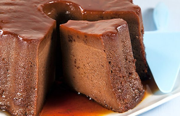 This Portuguese chocolate pudding with caramel recipe creates the ultimate dessert, enjoy.