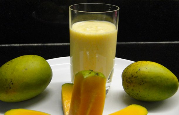This Portuguese style mango and yogurt shake recipe makes a refreshing and delicious drink.