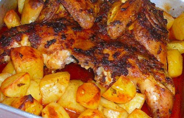 Portuguese Roasted Chicken with Chouriço Recipe - Portuguese Recipes
