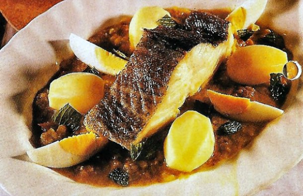 Portuguese Baked Cod with Mint Recipe