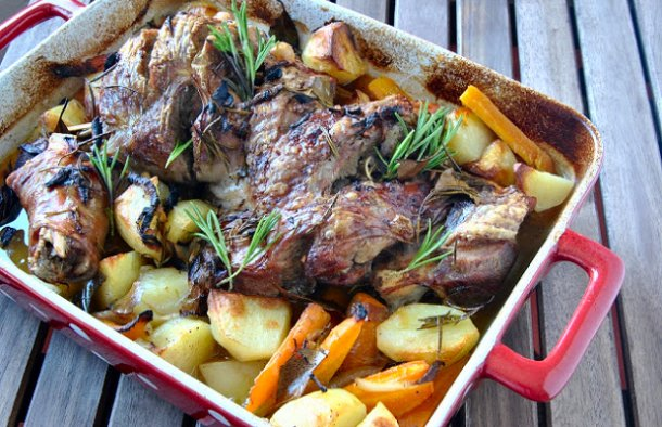 Not only is this Portuguese rosemary roasted turkey recipe delicious, it will smell amazing as well.