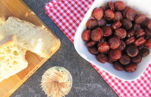 Portuguese Linguiça Sausage Snack Recipe - Portuguese Recipes